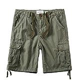 LZJDS Herren Cargo Shorts Leichte Casual Summer Camouflage Arbeitsshorts Multi Pocket Shorts,005,36