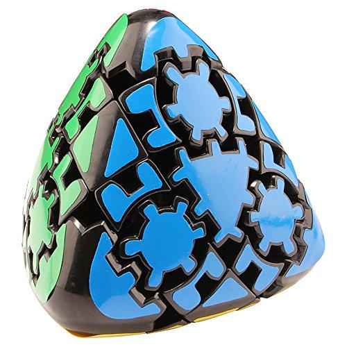 HJXDtech - LanLan Gear Irregular de Velocidad Cubo mágico Cubos de la torcedura Sticker (Pyramorphix)