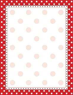 Barker Creek 8-1/2 x 11 Designer Computer Paper, Red & White Dot, 50-Sheets (LL-716)