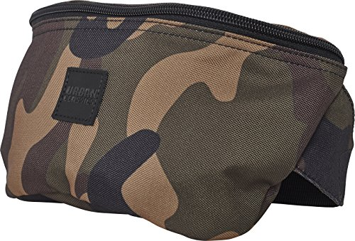 Urban Classics Hip Bag Umhängetasche, 24 cm, Wood Camo