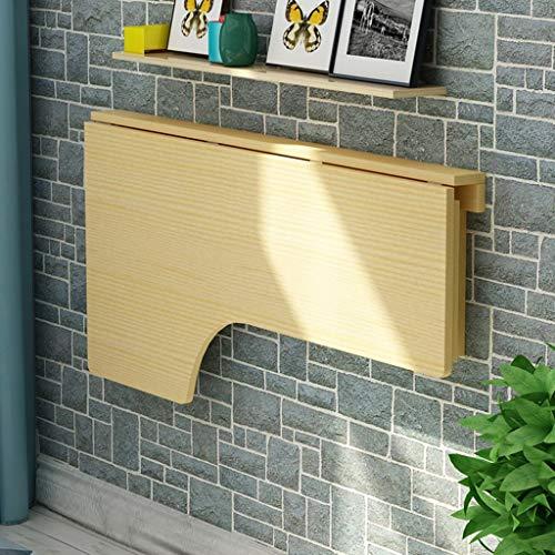 ZXL Vouwtafel Massief houten hoekbureau Wandmontage bijzettafel Muur Computer leertafel (grootte: 80 * 60 cm)