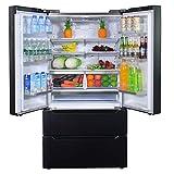 SMETA 36 Inch 22.5 Cu.Ft Counter Depth French Door Refrigerator Bottom Freezer with Auto Ice Maker...
