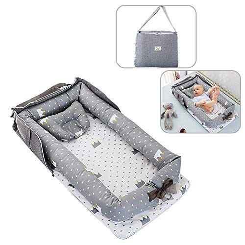 Check Out This FOONEE Baby Lounger Nest Portable Crib and Bassinet Perfect for Co Sleeping,Super Soft and Breathable Newborn Lounger Cushion Suitable from 0-2 Years – Detachable & Machine Washable