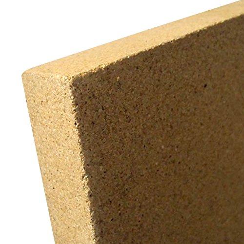 indoba IND-70702-VE202-Vermiculit Platte SF1100-20 x 375 x 500 mm Schamott Ersatz Vermiculite, Natur