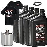 Klotz V-Twin Full Synthetic Oil Change Kit, 20W/50-4 Quarts (KN...