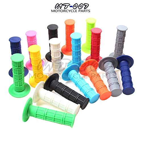 Motocross Rubber Handlebar Grips 7/8' Of Motorcycle (Color : Pale green)