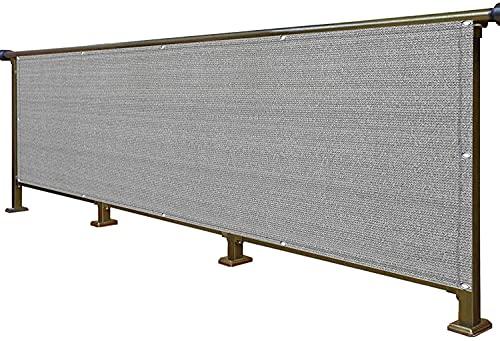 MALSWDJX Balcón Vista Protectora balcón Cubierta -UV Agujeros metálicos HDP E-Tear Tear Balcony Garden Privacy, Altura 80cm / 90cm / 100cm (Color : Gray, Size : 80x1000cm)