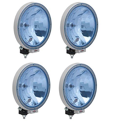 Preisvergleich Produktbild LKW 4x12 / 24 V Zusatz Fernscheinwerfer Halogen Blau Rund Neu Hochwertig Klar