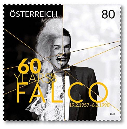 Bild Österreichische Post Falco | 60. Geburtstag | Österreich | Briefmarke | postfrisch | Sänger | Sonder-Briefmarken | US-Charts | Popstar