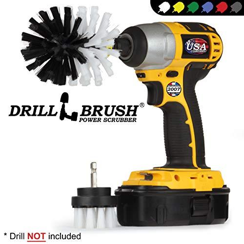 Auto, Motorrad, LKW, Boot - Reinigungsprodukte - Drill Brush - Soft White Detaillierung Pinsel Kit - Car Wash - Spin Brush - Felgenreiniger - Innen, Vinyl, Polster, Stoff, Leder Sitzreiniger