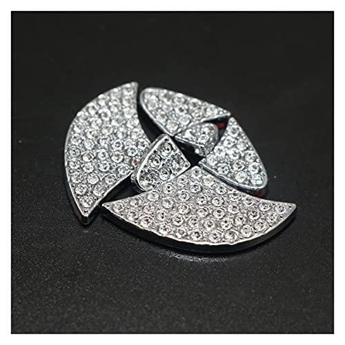 happy time Volante del automóvil Logo Diamond Decoration Pegatina Auto decoración Calcomanía Ajuste para Mercedes Fit para BMW Ajustar para Toyota Accesorios Coche (Color Name : Toyota)