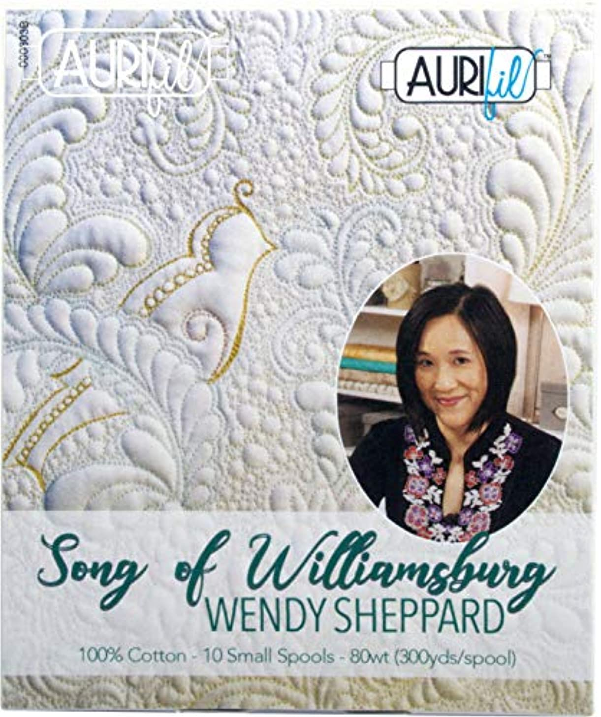 Wendy Sheppard Song of Williamsburg Aurifil Thread Kit 10 Small Spools 80 Weight WS80SW10