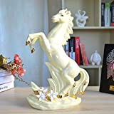 DAJIADS Figuras,Estatuas,Estatuillas,Esculturas,Cerámica Creativa Animal Estatua De Caballos Decoracion Manualidades De Porcelana De Salón Dormitorio Librero Escritorio Artesanía para
