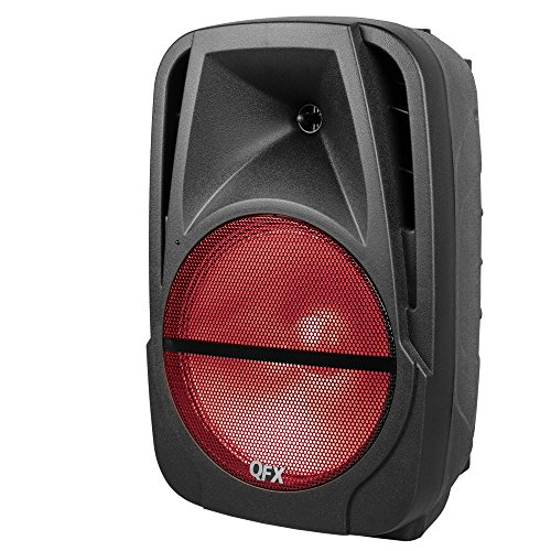 """QFX PBX-BF12 12"""" Rechargeable Speaker w/Bluetooth/FM/USB/TF/AUX-in/Remote"""