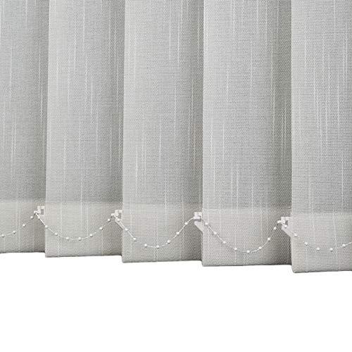 Persiana de Aluminio Persiana Vertical con Filtración de Luz, Panel de Cortina de Puerta de Patio Opaco, Listón de 89 mm de Ajuste Fácil para Oficina En Casa para Sujeción Y Privacidad - Gris