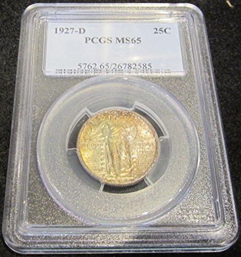 1927 D Liberty Standing Quarter Quarter MS65 PCGS