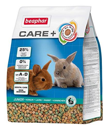 Care+ konijntje Junior | bevordert de gezonde tandslijtage | kippenvoer tot 10 Levensmaand | met alfalfa, vitamine A, calcium | 1,5 kg.