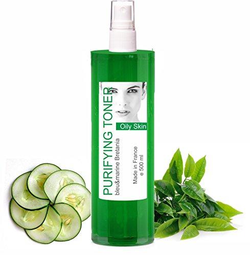 Lotion Tonique Purifiante Peau Grasse et Acné au Thé Vert spray 500 ml - sans alcool