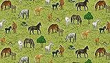 Makower Fat Quarter Quilt-Stoff mit Dorflebenden Pferden