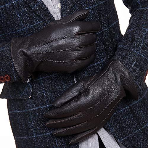 Intra-FIT バイク用グローブ ドライバーグローブ 鹿革手袋 男性用 運転用 プレミアム レザーグローブ ドライバー バイク メンズ 厚め 暖かい 柔らかい 本革 防寒 防風