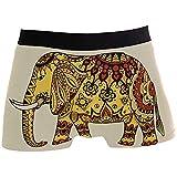 Web--ster Calzoncillos Boxer para Hombre Elefantes Dorados Ropa Interior Transpirable para Cadera con Cintura cómoda Talla L