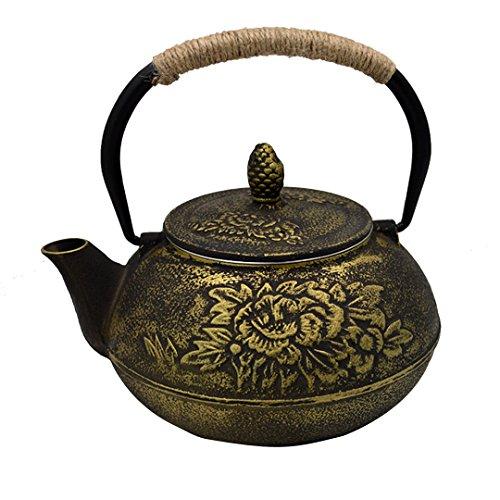 Milya Klassische Reine Handarbeit Teekanne von Eisen Eisen Asiatische Teekanne aus Gusseisen...