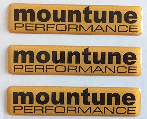 Insignias Mountune Performance, Ford Fiesta y Focus RS, 3 insignias abovedadas de resina, x 3 para baúl y alerones.