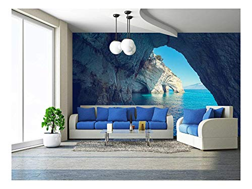 wall26 - Beautiful Sea Landscapes on Zakynthos Island in Greece - Removable Wall Mural | Self-adhesive Large Wallpaper - 100x144 inches