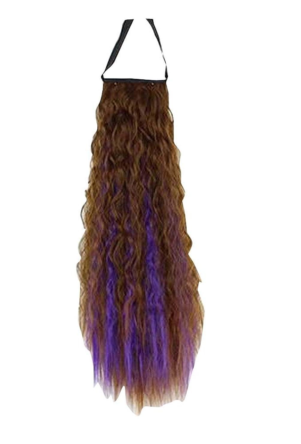 サイクロプス立ち寄るスキッパーふわふわの女性のヘアエクステンションバンドヘアウィッグ