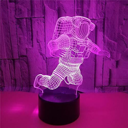 FREEZG lamparas infantiles Spaceman niños creatividad 7 Colores Cambio de Botón Táctil y Cable USB para Cumpleaños Navidad Regalos de Mujer Bebes Hombre Niños Amigas [Clase de eficiencia energética A