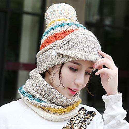 Longra Unisex wintermuts, patchwork, masker, sjaal, muts, muts, multifunctioneel, dik, wintermuts, skipet