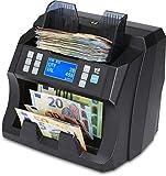ZZap NC45 - Contador de billetes con contador de valor para fracciones mixtas y detector de billetes falsos