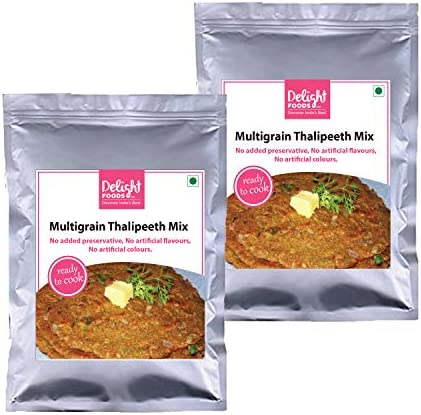 Delight Foods Maharashtra Ready to Cook Mixes | Set of 2 | Snacks - Breakfast - Lunch | (Puranpoli)