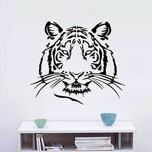 BailongXiao Wunderschöne Kunst Tiger Wandkunst Aufkleber Wandaufkleber Material für Kinderzimmer Familie Party Dekoration Tapete 104x118cm