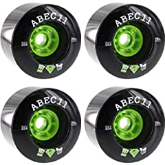 One (1) set of 107mm ABEC 11 SuperFly Black Skateboard Wheels - 74a; includes four (4) wheels Diameter: 107mm Durometer: 74a Color: Black