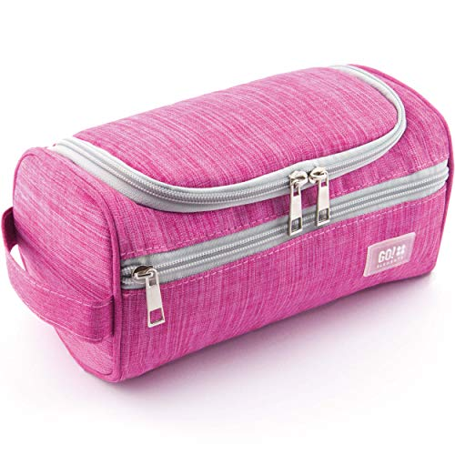 [Sofort Lieferbar] GO!elements® Smart Kulturbeutel Männer Kulturtasche zum Aufhängen Herren & Damen | Kosmetiktasche Männer Frauen für Koffer & Handgepäck | Waschtasche Reise-Tasche, Farbe:Pink