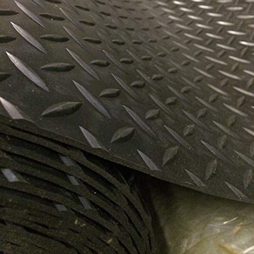 Shield Autocare 1 Meter x 1.5m Width 3mm Large Diamond Rubber Flooring Garage Boot Boat Shed Floor Matting
