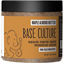 product image for Paleo Almond Butter, Maple Almond, 100% Paleo Certified and Gluten Free Almond Butter, 6g Protein Per Serving, Crafted by Base Culture (1 Count)