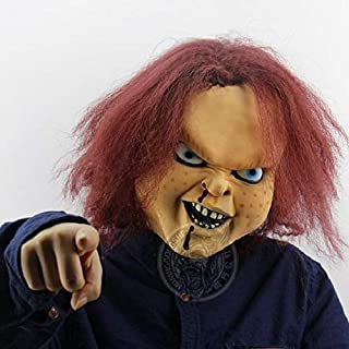 Terrorist Latex Scary Ghost Mask Toy Game Trick Mask Carnival Party Show Chucky Doll Latex Mask