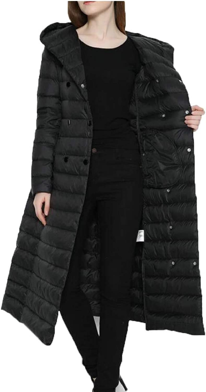 Alion Women's Fashion Hooded Packable Ultra Light Weight Down Jacket Coat