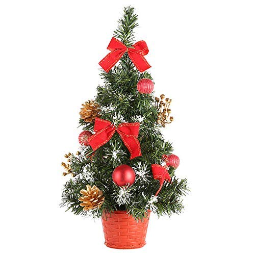 Dawns Mini Artificial Tabletop Christmas Tree, Mini Aritificial Christmas Tree Desktop Xmas Tree Home Hotel Shopping Mall Christmas Party Decoration