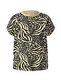 TOM TAILOR Denim 1026034 Print Camiseta, 26948-Black Animal, S para Mujer