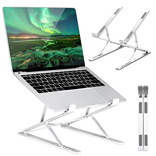 GIM Laptop Stand,Two-Layer 6+9 Adjustable Height Laptop Holder,Fully Foldable Portable Laptop Holder Riser Compatible with MacBook, MacBook Air, MacBook Pro,Dell XPS, Google Pixelbook, HP, Lenovo