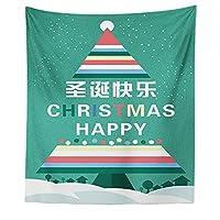 タペストリー テーブルクロス クリスマスタペストリー 布製 クリスマス 景色 クリスマスデコレーション 飾り おしゃれ 壁掛け 布 タペストリー カラー おしゃれ 壁掛けタペストリー 布ポスター 壁飾り おしゃれ 家 ウォールアート 150*130cm