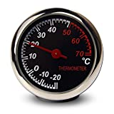 ANKI Table Classic Car Dashboard Small Round Analog Quartz Hygrometer Thermometer Humidity Meter (Thermometer)