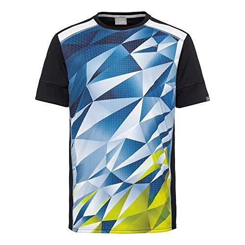 HEAD Jungen Medley T-Shirt B, Sky Blue/Yellow, XS