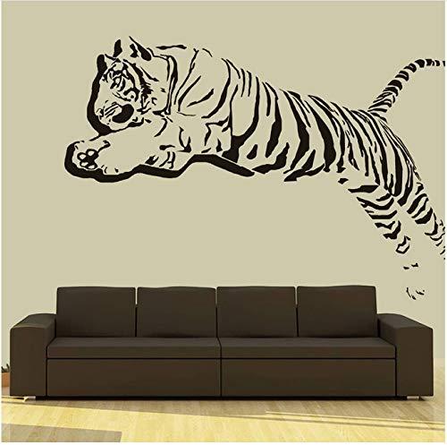 Tatuajes De Pared Calcomanías De Vinilo Tigre León Leopardo Pánico Animal Hogar Sala De Estar Calcomanías Decorativas De Pared Habitación Infantil 55X88Cm