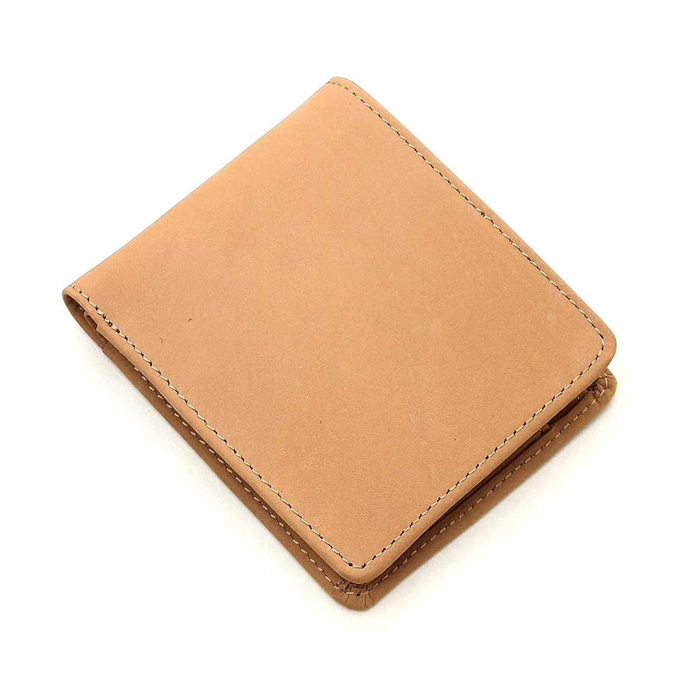 スキッパー場合彼女タチヤ TACHIYA 財布 USA ヌバックレザー 二つ折り ウォレット ハーフウォレット 本革 (01-u0280zg) 16/ナチュラル