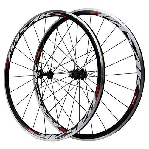 SJLA Vorderrad,Doppelwandige MTB-Felge Aluminiumlegierung 7/8/9/10/11 Geschwindigkeitsfreilauf V Bremse Fahrrad...