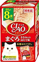 (まとめ買い)いなばペットフード CIAO チャオ パウチ まぐろ ささみ入り ほたて味 40g×8袋 猫用フード 【×6】